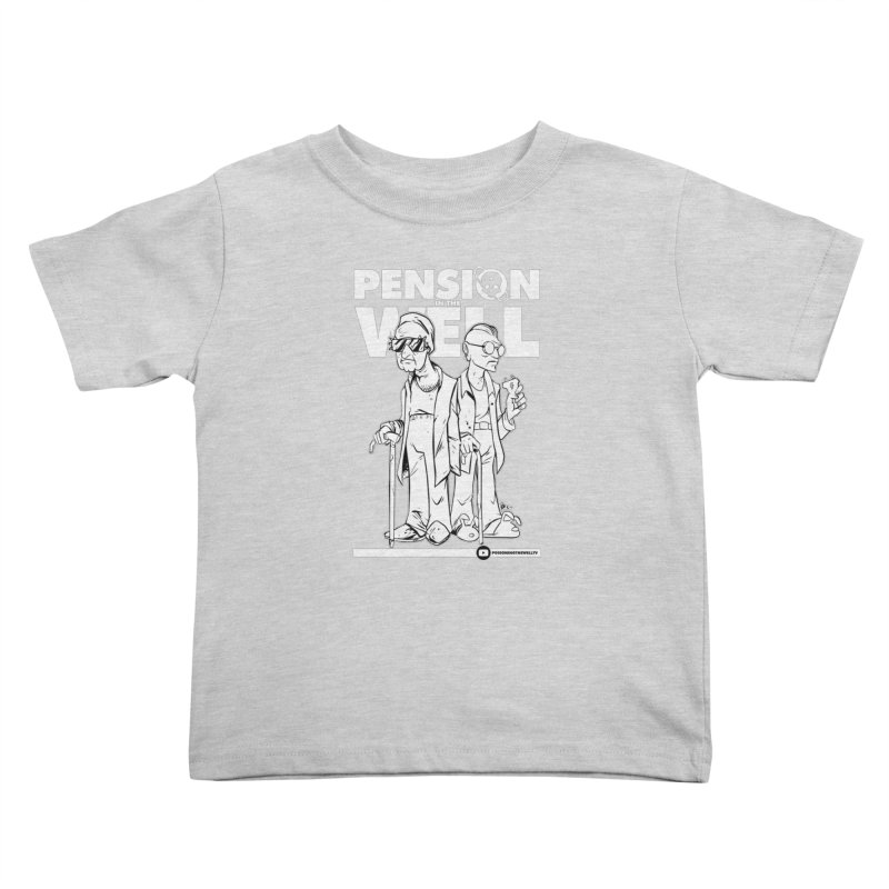 Pension in the Well (White Print) Kids Toddler T-Shirt by Poisoning the Well Swag Shop