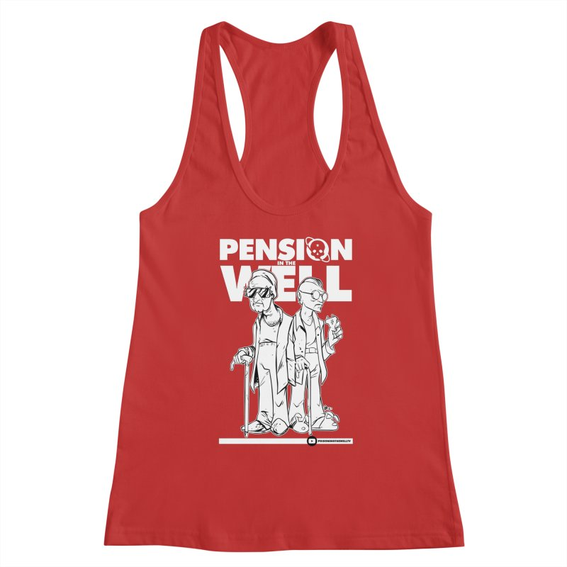 Pension in the Well (White Print) Women's Tank by Poisoning the Well Swag Shop