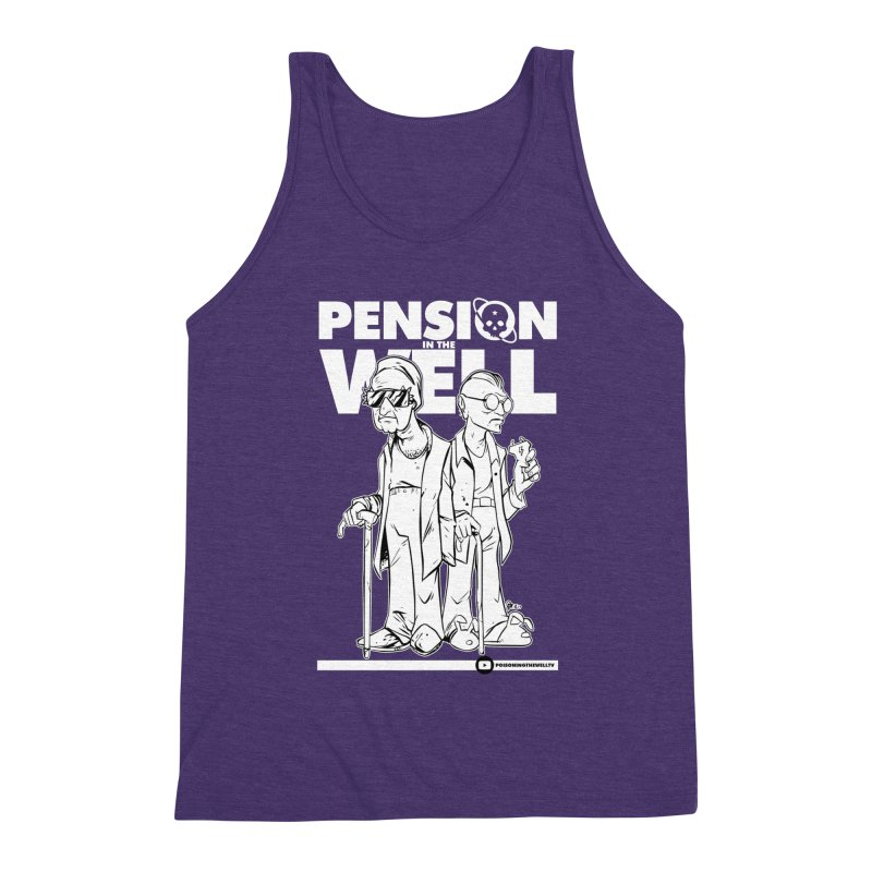 Pension in the Well (White Print) Men's Triblend Tank by Poisoning the Well Swag Shop