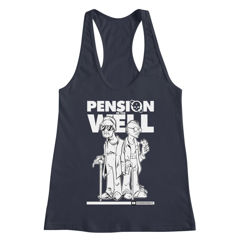 Pension in the Well (White Print) Women's Racerback Tank by Poisoning the Well Swag Shop