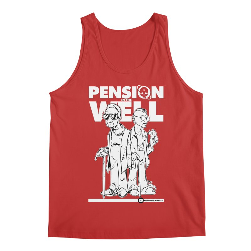 Pension in the Well (White Print) Men's Regular Tank by Poisoning the Well Swag Shop