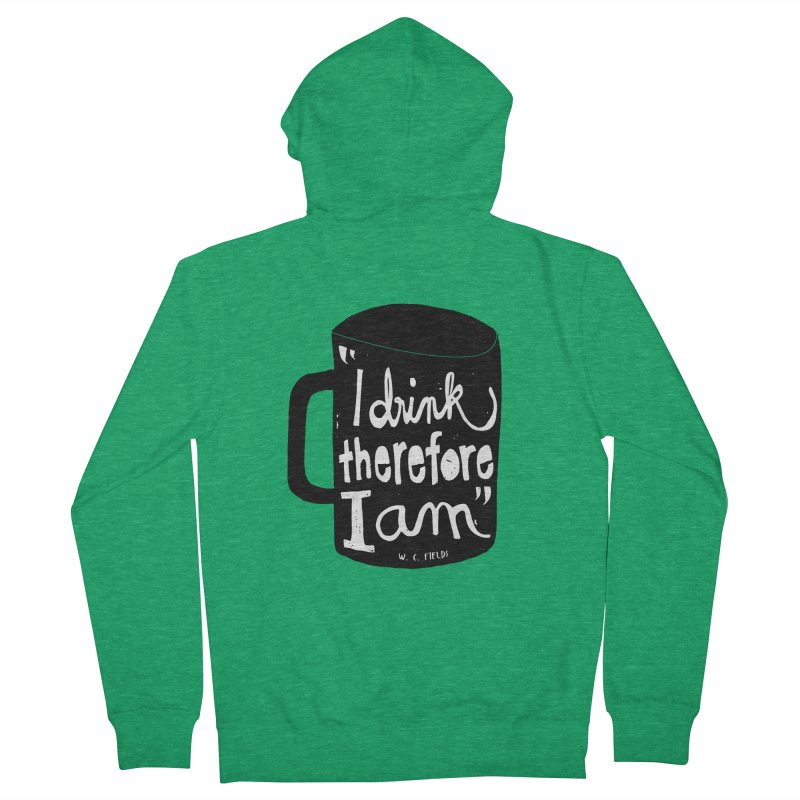 I drink, therefore I am Men's Zip-Up Hoody by puchulies's Artist Shop