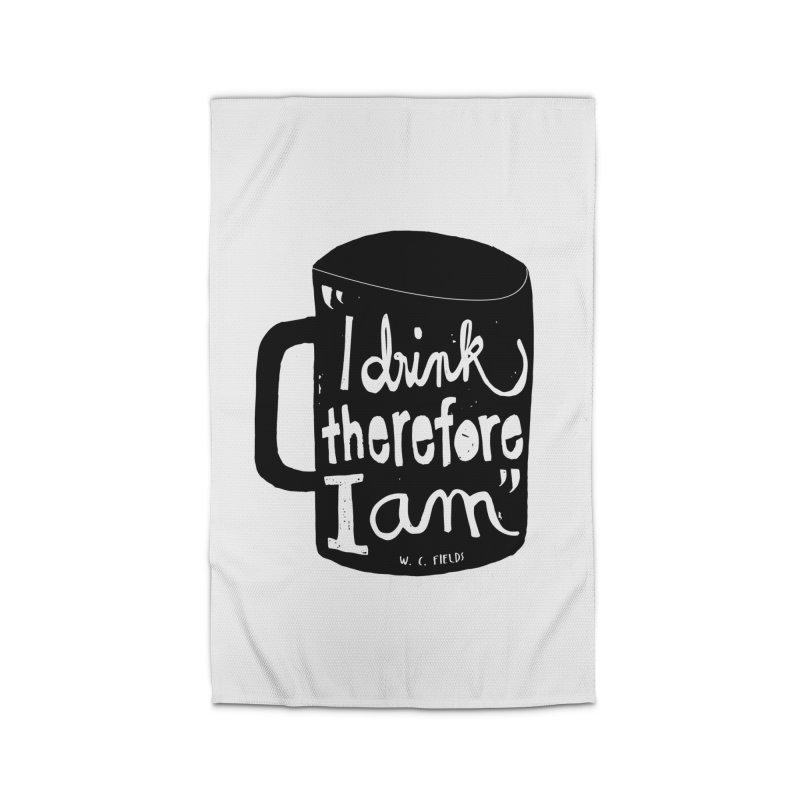 I drink, therefore I am Home Rug by puchulies's Artist Shop