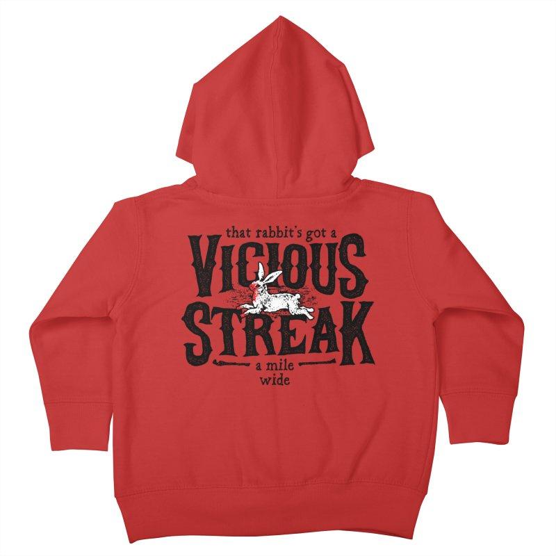 Vicious Streak Kids Toddler Zip-Up Hoody by pufahl's Artist Shop