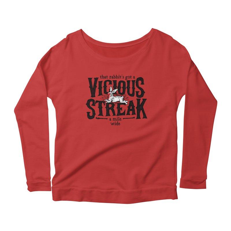 Vicious Streak Women's Longsleeve Scoopneck  by pufahl's Artist Shop