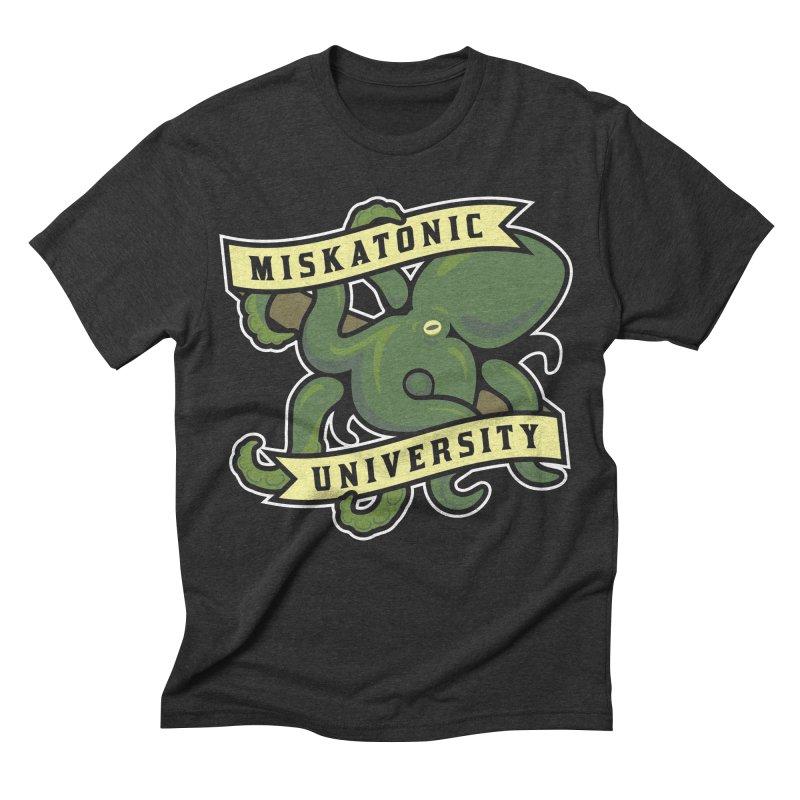 Miskatonic University Men's Triblend T-shirt by pufahl's Artist Shop