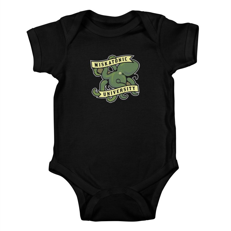 Miskatonic University Kids Baby Bodysuit by pufahl's Artist Shop