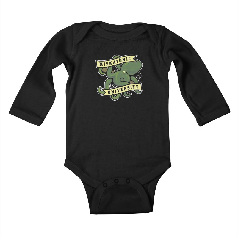 Miskatonic University Kids Baby Longsleeve Bodysuit by pufahl's Artist Shop