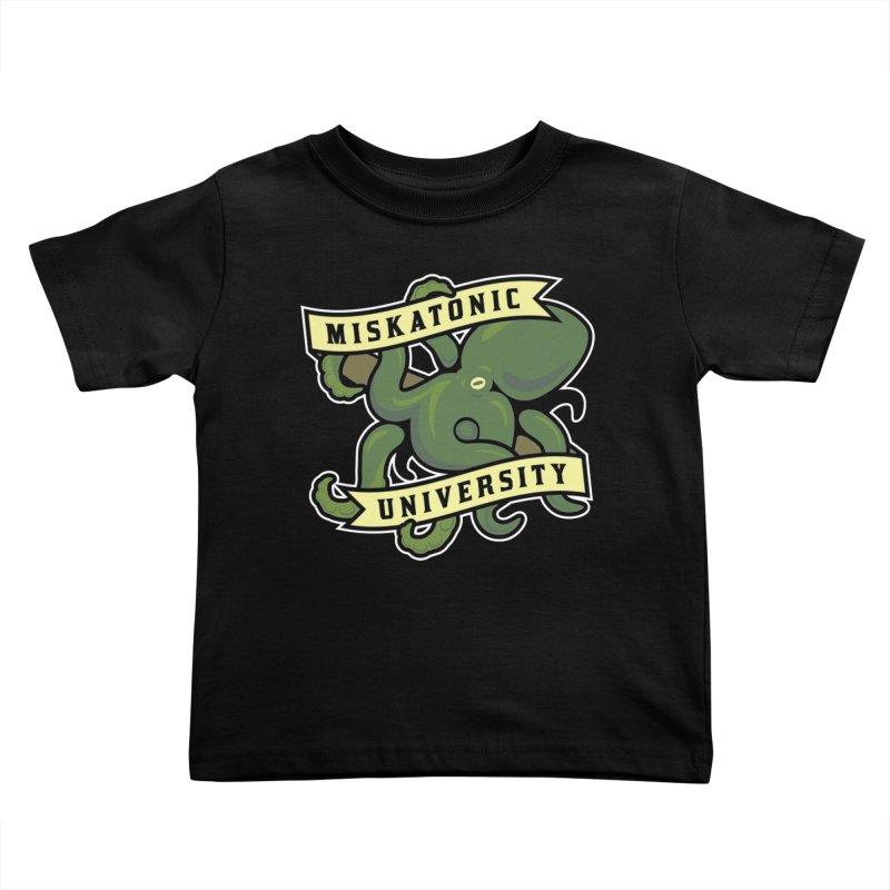 Miskatonic University Kids Toddler T-Shirt by pufahl's Artist Shop