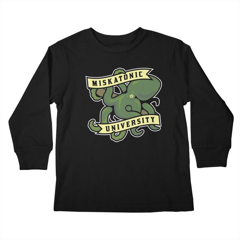 Miskatonic University Kids Longsleeve T-Shirt by pufahl's Artist Shop