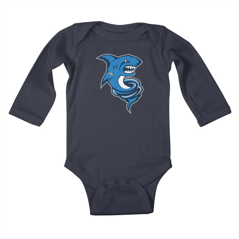 LA Sharknadoes Kids Baby Longsleeve Bodysuit by pufahl's Artist Shop
