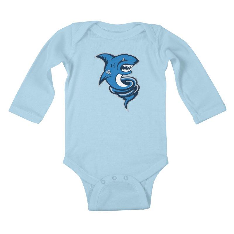 LA Sharknadoes Kids Baby Longsleeve Bodysuit by pufahl's Artist Shop
