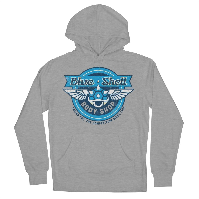 Blue Shell Auto Body Women's Pullover Hoody by pufahl's Artist Shop