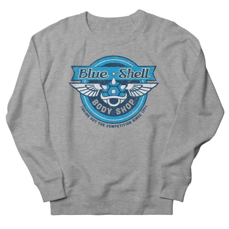 Blue Shell Auto Body Women's Sweatshirt by pufahl's Artist Shop