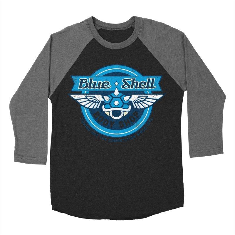 Blue Shell Auto Body Women's Baseball Triblend T-Shirt by pufahl's Artist Shop