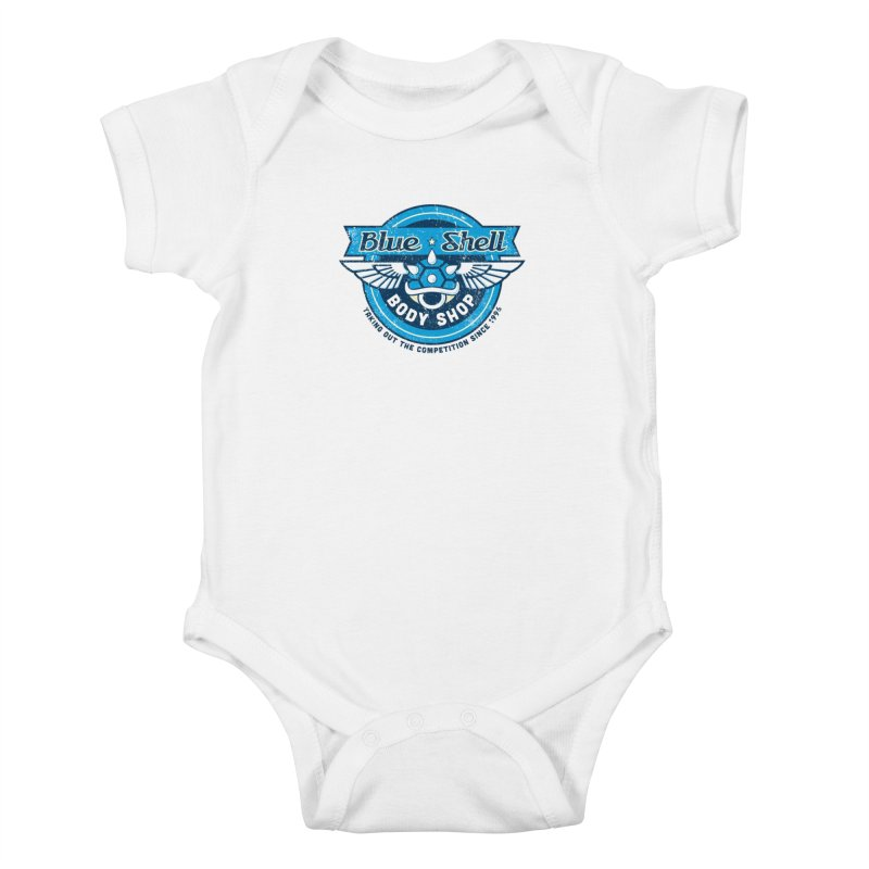 Blue Shell Auto Body Kids Baby Bodysuit by pufahl's Artist Shop