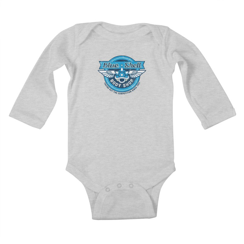 Blue Shell Auto Body Kids Baby Longsleeve Bodysuit by pufahl's Artist Shop