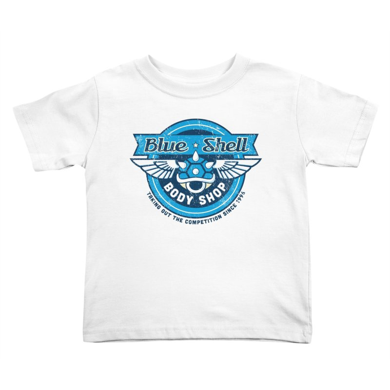 Blue Shell Auto Body Kids Toddler T-Shirt by pufahl's Artist Shop