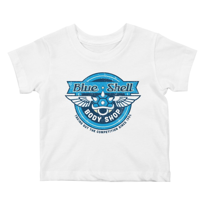 Blue Shell Auto Body Kids Baby T-Shirt by pufahl's Artist Shop