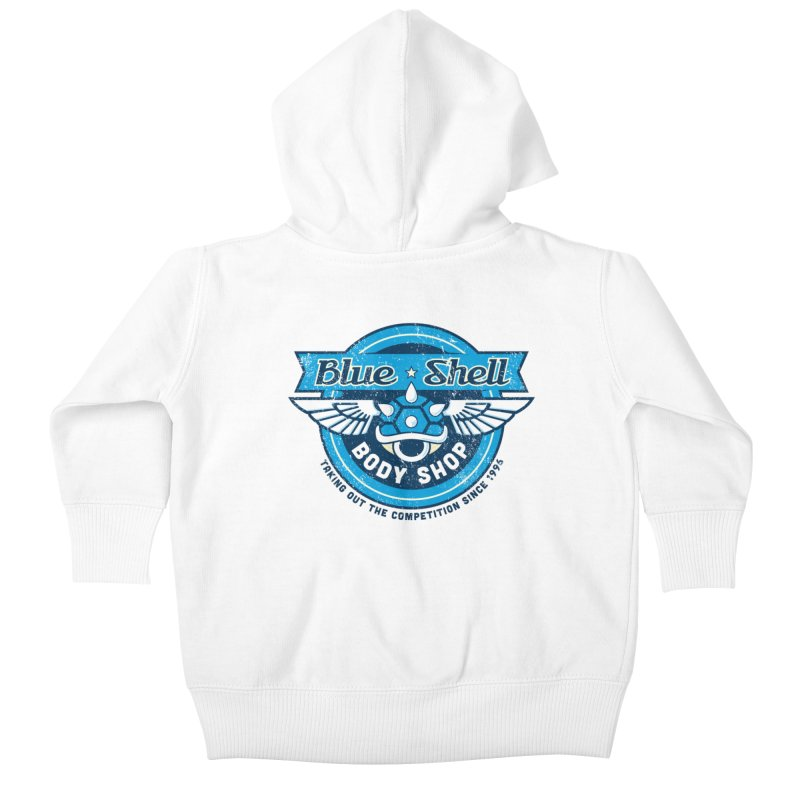 Blue Shell Auto Body Kids Baby Zip-Up Hoody by pufahl's Artist Shop