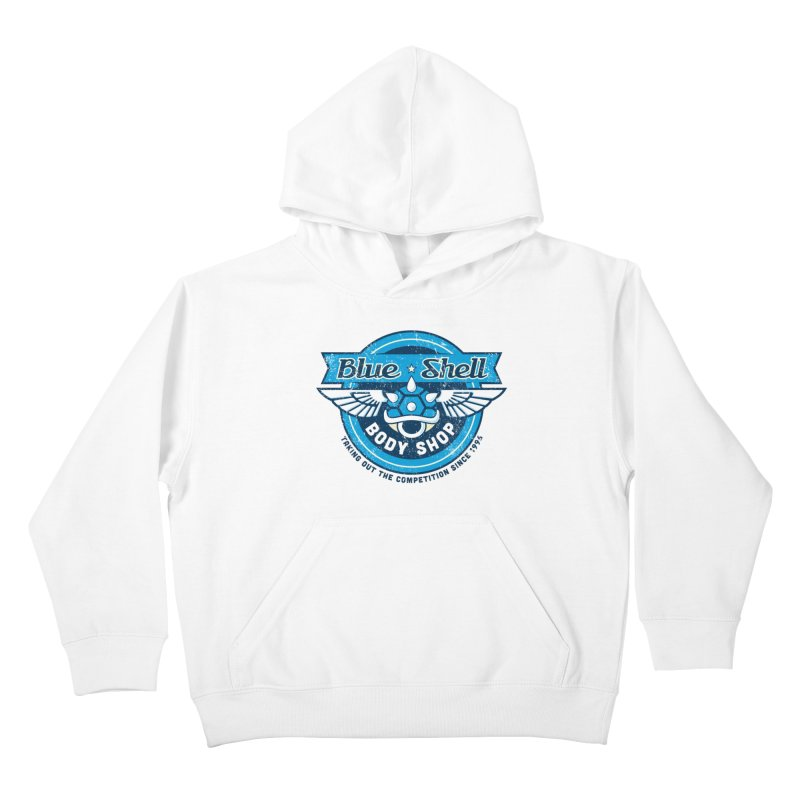 Blue Shell Auto Body Kids Pullover Hoody by pufahl's Artist Shop