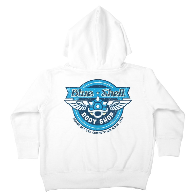 Blue Shell Auto Body Kids Toddler Zip-Up Hoody by pufahl's Artist Shop