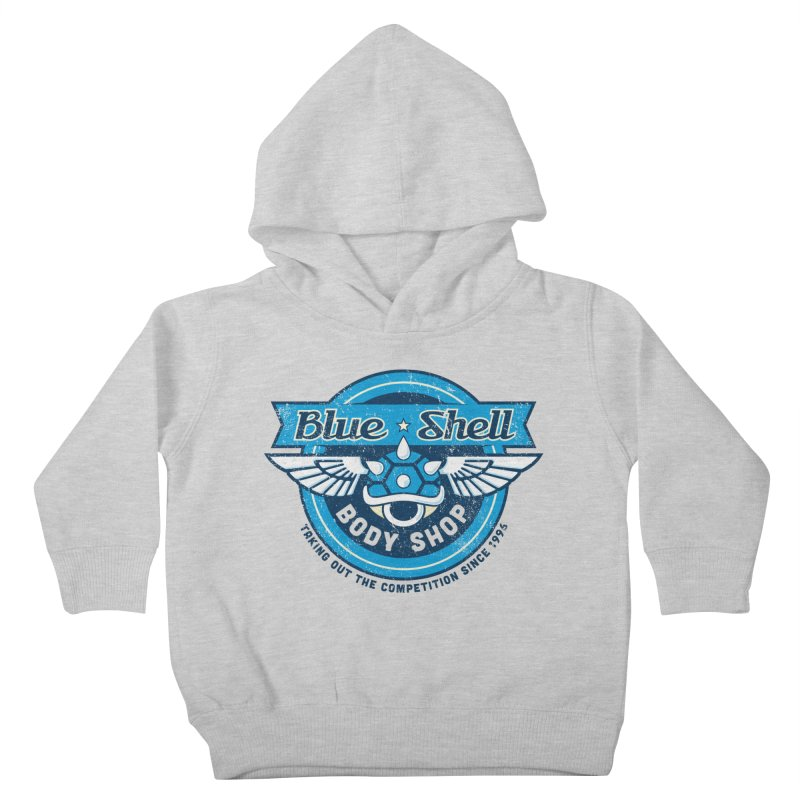 Blue Shell Auto Body Kids Toddler Pullover Hoody by pufahl's Artist Shop