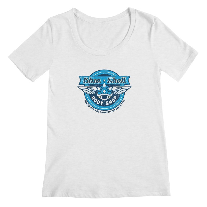 Blue Shell Auto Body Women's Scoopneck by pufahl's Artist Shop