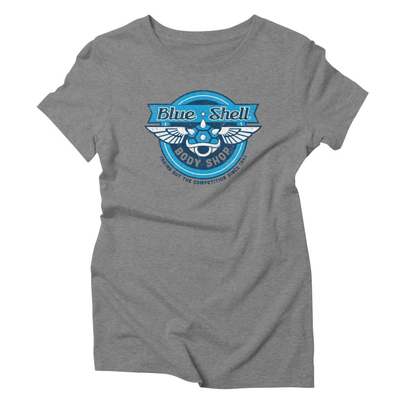 Blue Shell Auto Body Women's Triblend T-Shirt by pufahl's Artist Shop