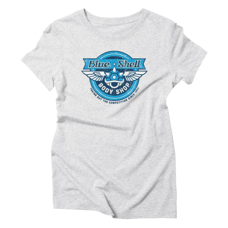 Blue Shell Auto Body Women's Triblend T-Shirt by pufahl's Artist Shop