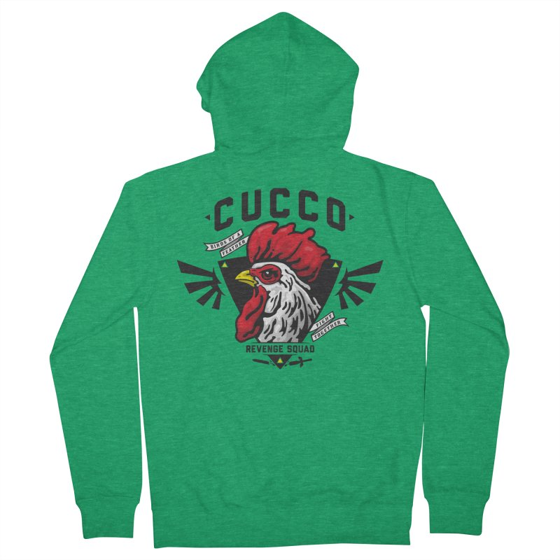 Cucco Revenge Squad Women's Zip-Up Hoody by pufahl's Artist Shop