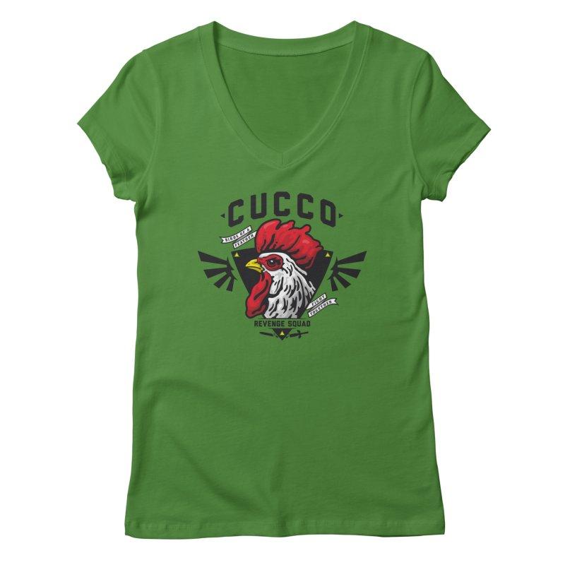 Cucco Revenge Squad Women's V-Neck by pufahl's Artist Shop