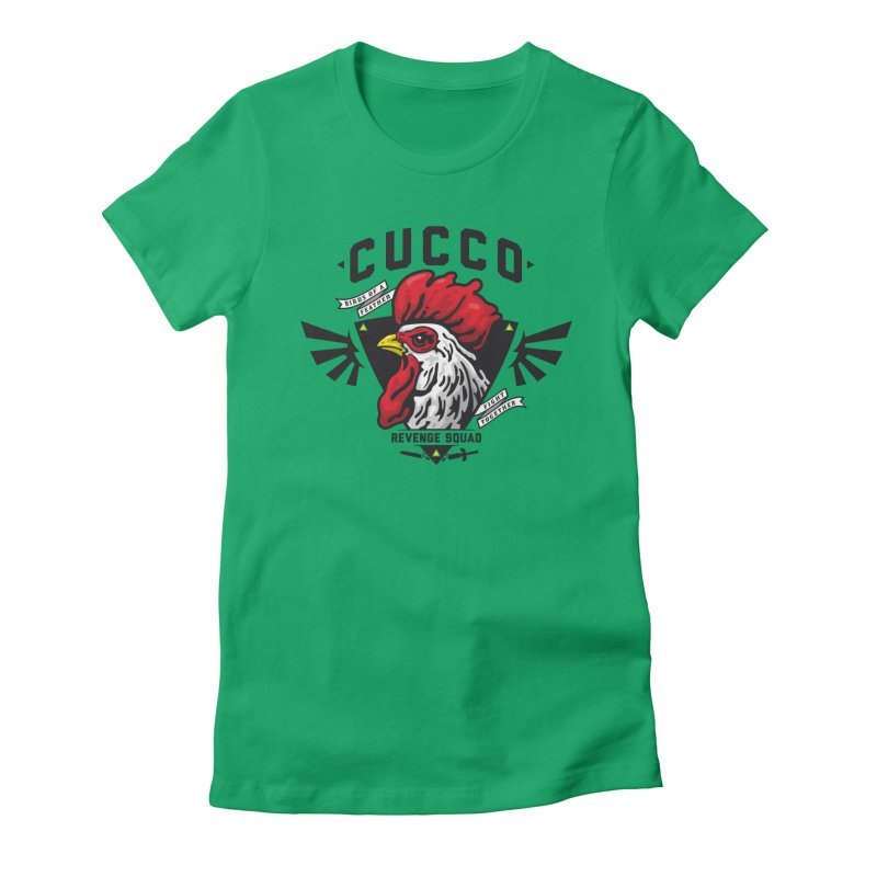 Cucco Revenge Squad Women's Fitted T-Shirt by pufahl's Artist Shop