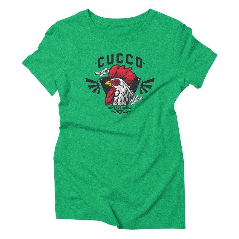 Cucco Revenge Squad Women's Triblend T-Shirt by pufahl's Artist Shop