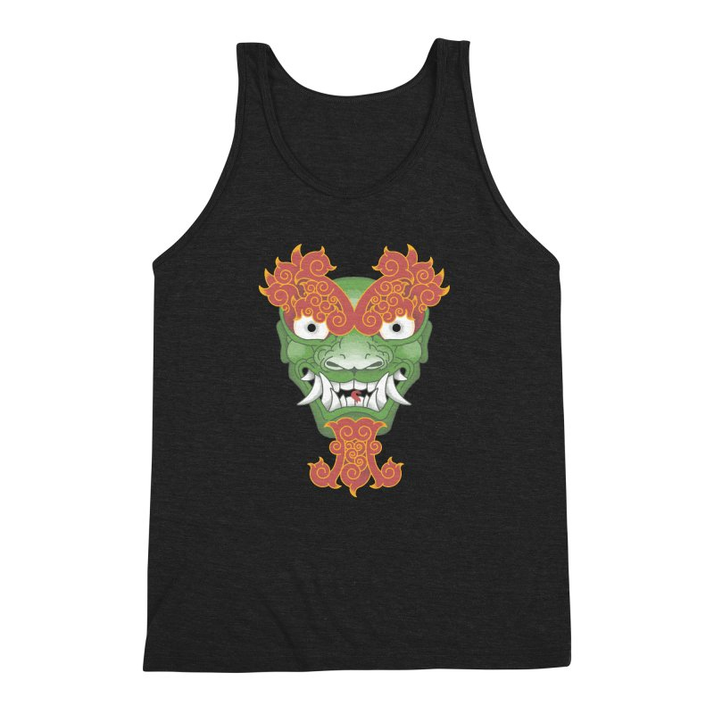 Shape Shifting Master of Darkness Men's Triblend Tank by pufahl's Artist Shop