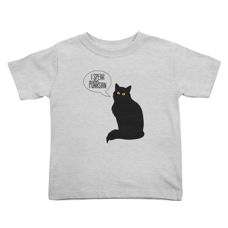 Cats Speak PURRsian Kids Toddler T-Shirt by puffinspictures's Artist Shop