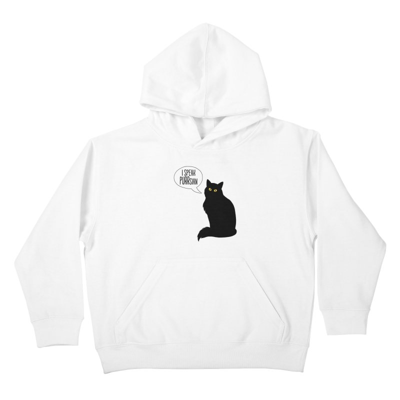 Cats Speak PURRsian Kids Pullover Hoody by puffinspictures's Artist Shop