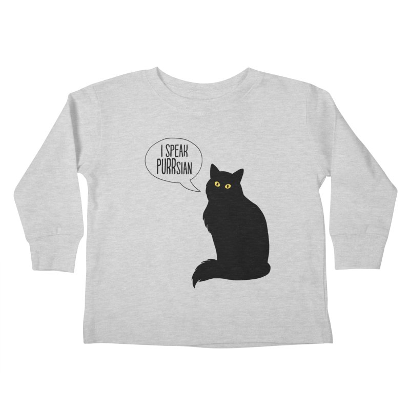 Cats Speak PURRsian Kids Toddler Longsleeve T-Shirt by puffinspictures's Artist Shop