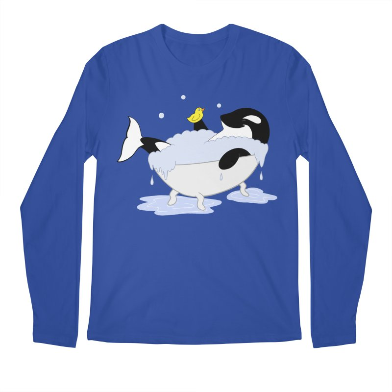 Killer Whale's Tubby Time Men's Longsleeve T-Shirt by puffinspictures's Artist Shop