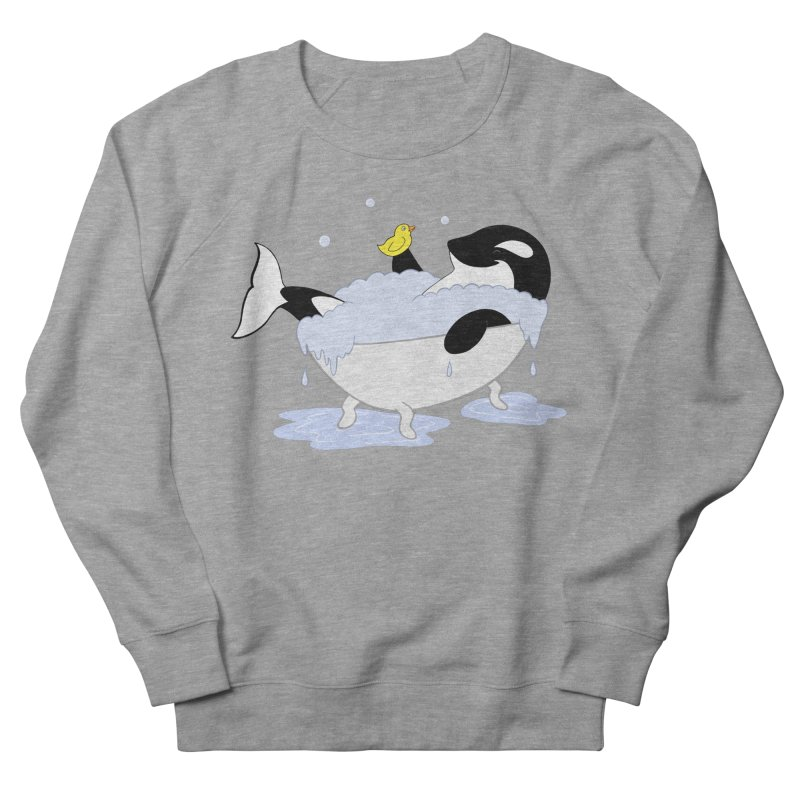 Killer Whale's Tubby Time Women's Sweatshirt by puffinspictures's Artist Shop