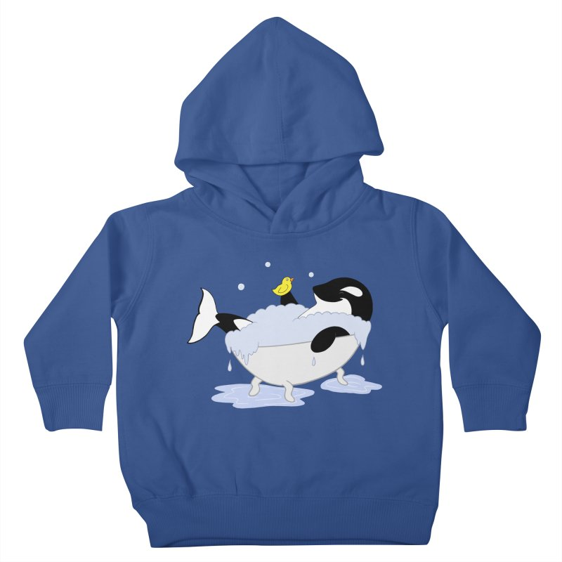 Killer Whale's Tubby Time Kids Toddler Pullover Hoody by puffinspictures's Artist Shop