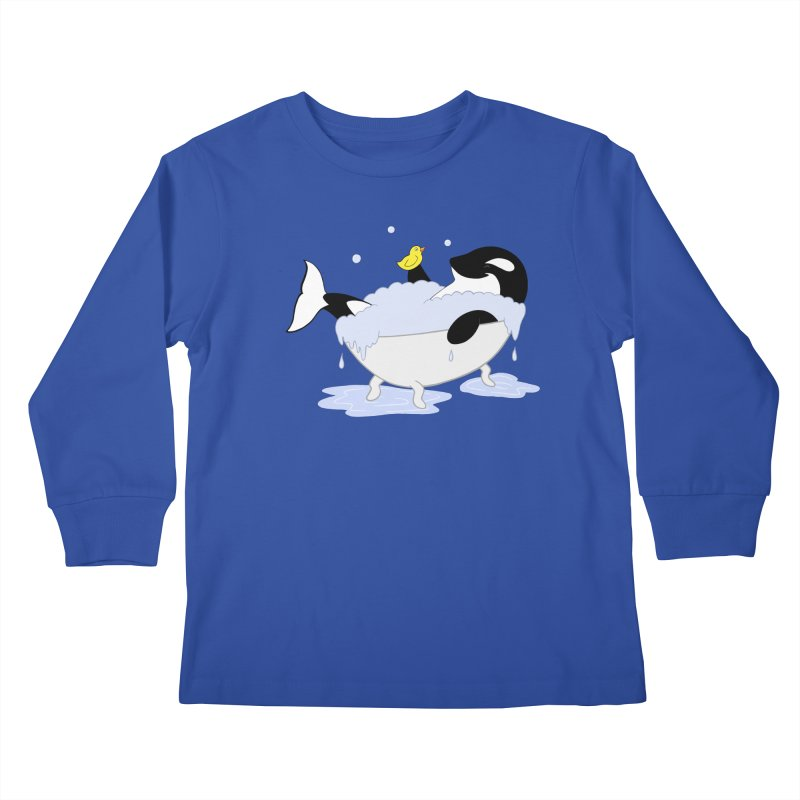 Killer Whale's Tubby Time Kids Longsleeve T-Shirt by puffinspictures's Artist Shop