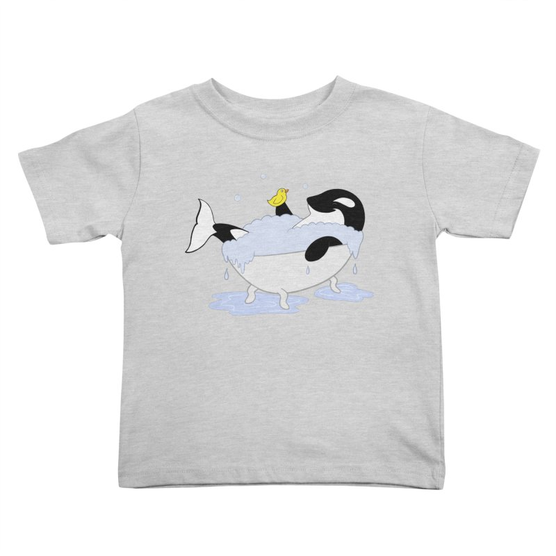 Killer Whale's Tubby Time Kids Toddler T-Shirt by puffinspictures's Artist Shop