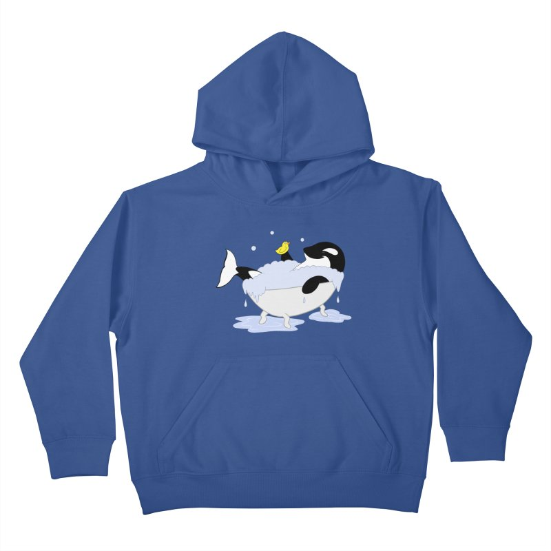 Killer Whale's Tubby Time Kids Pullover Hoody by puffinspictures's Artist Shop