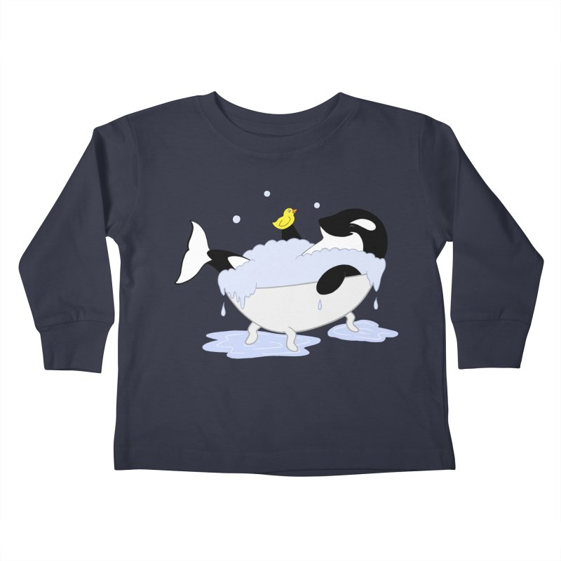 Killer Whale's Tubby Time Kids Toddler Longsleeve T-Shirt by puffinspictures's Artist Shop