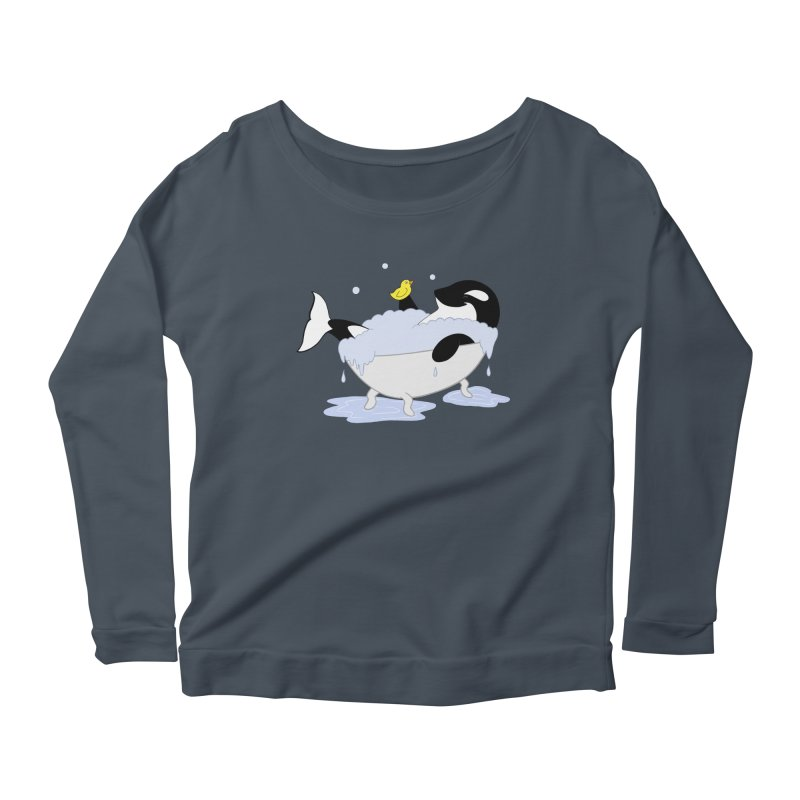 Killer Whale's Tubby Time Women's Longsleeve Scoopneck  by puffinspictures's Artist Shop
