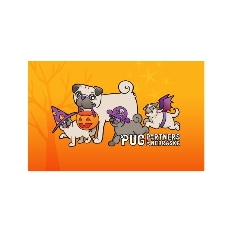 Pug-o-Ween Accessories Face Mask by Pug Partners of Nebraska