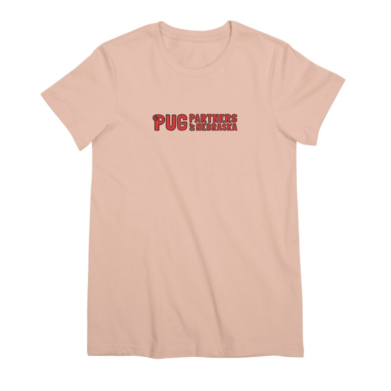 Classic Red Logo Women's Premium T-Shirt by Pug Partners of Nebraska