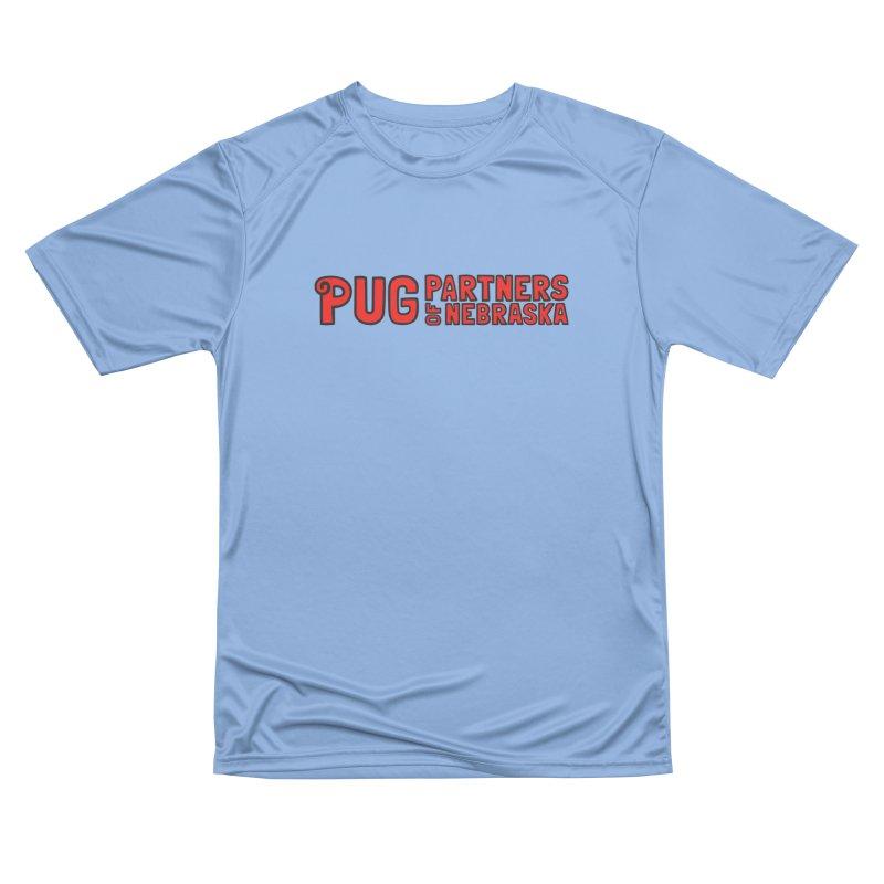 Classic Red Logo Men's Performance T-Shirt by Pug Partners of Nebraska