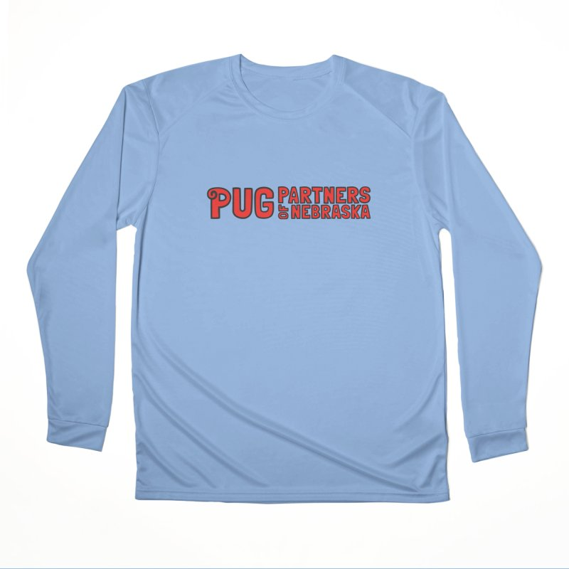 Classic Red Logo Women's Performance Unisex Longsleeve T-Shirt by Pug Partners of Nebraska
